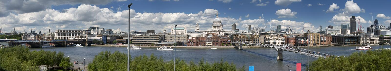 Città dell'orizzonte di Londra immagini stock