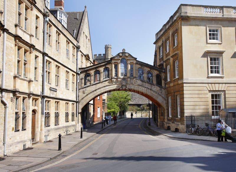 Città dell'università di Oxford in Inghilterra immagine stock