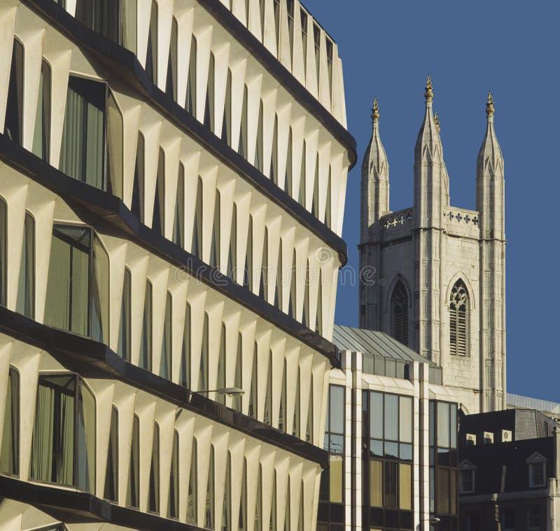 Città della Banca di Londra immagini stock libere da diritti