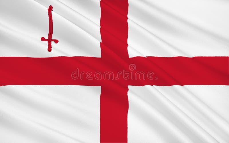 Città della bandiera di Londra, Inghilterra fotografie stock