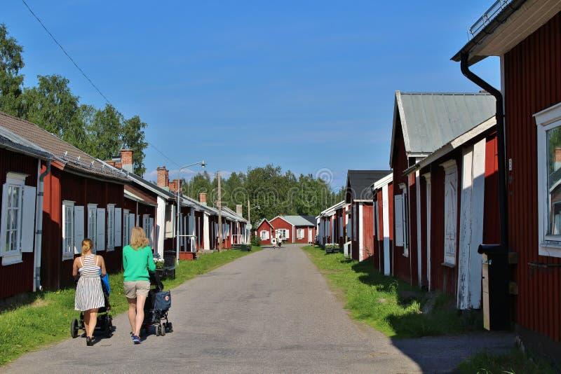 Città della chiesa di Gammelstad fotografia stock libera da diritti