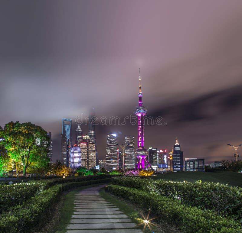 Città della Cina di Shanghai immagine stock libera da diritti