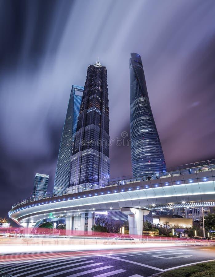 Città della Cina di Shanghai fotografia stock libera da diritti