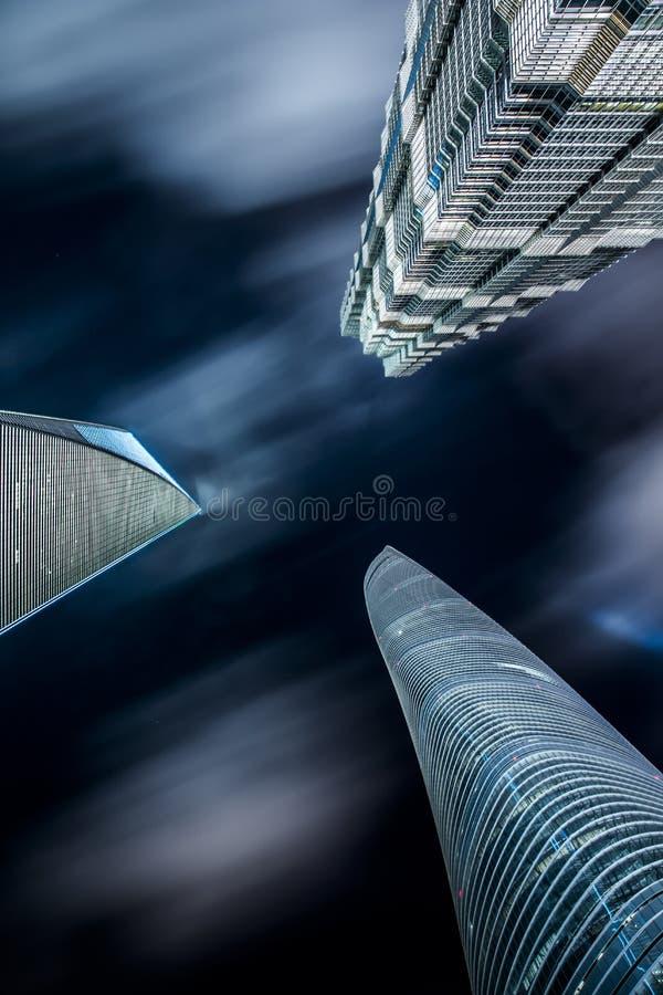 Città della Cina di Shanghai fotografia stock