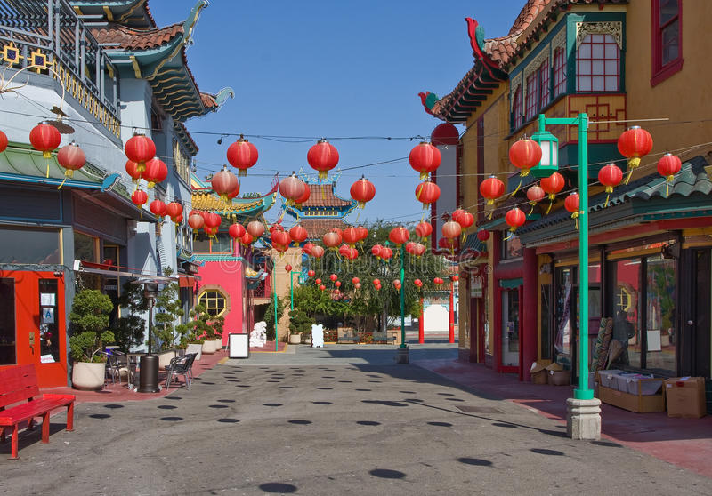 Città della Cina a Los Angeles immagini stock