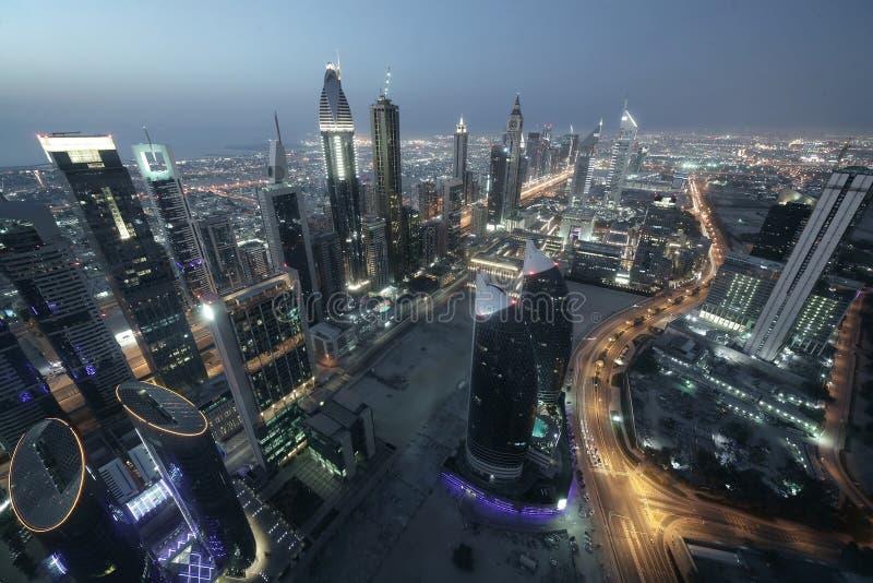 Città della città della Dubai immagini stock libere da diritti