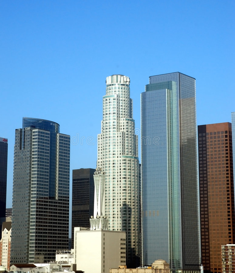 Città della LA ad alba 2 fotografia stock