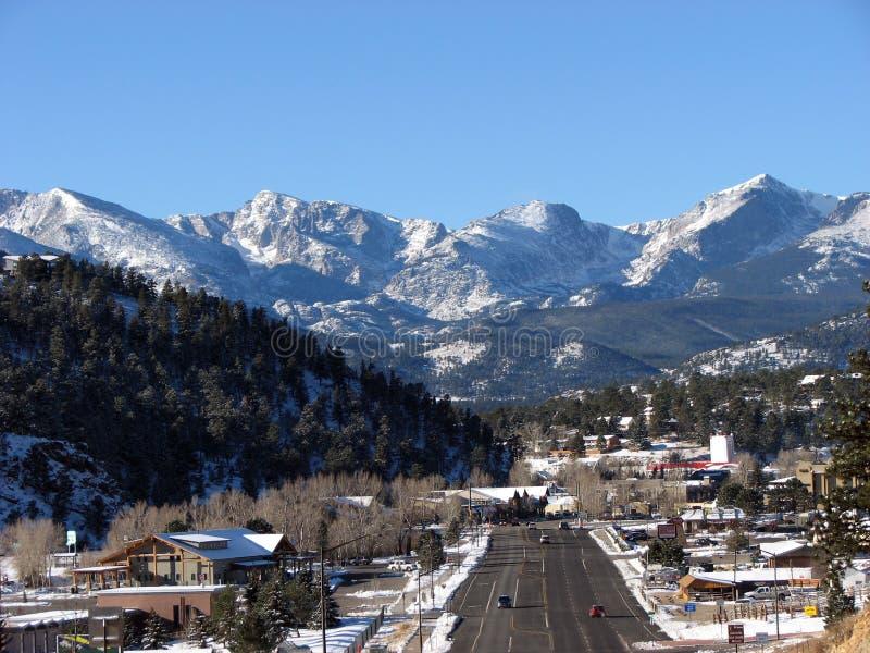 Città della montagna fotografie stock libere da diritti
