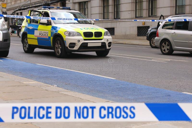 Città della polizia di Londra fotografia stock