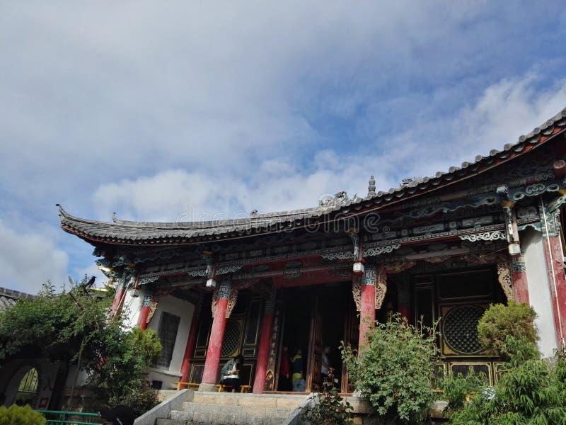 Città della shanggri-La della costruzione tradizionale vecchia fotografie stock libere da diritti