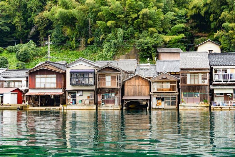 Città della spiaggia del cho di Ine a Kyoto immagine stock