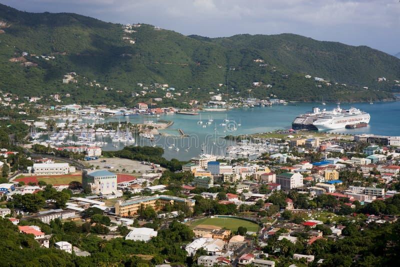 Città della strada, Tortola immagine stock