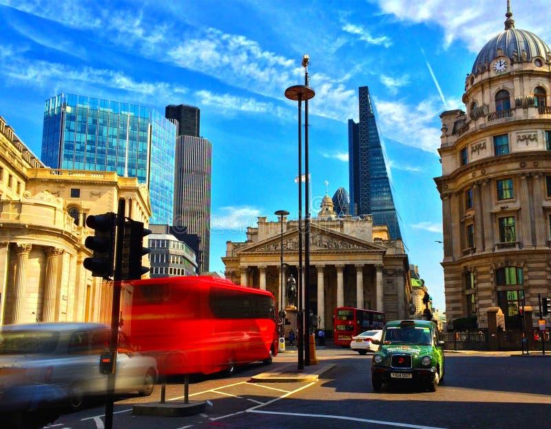 Città della via di Londra fotografia stock libera da diritti