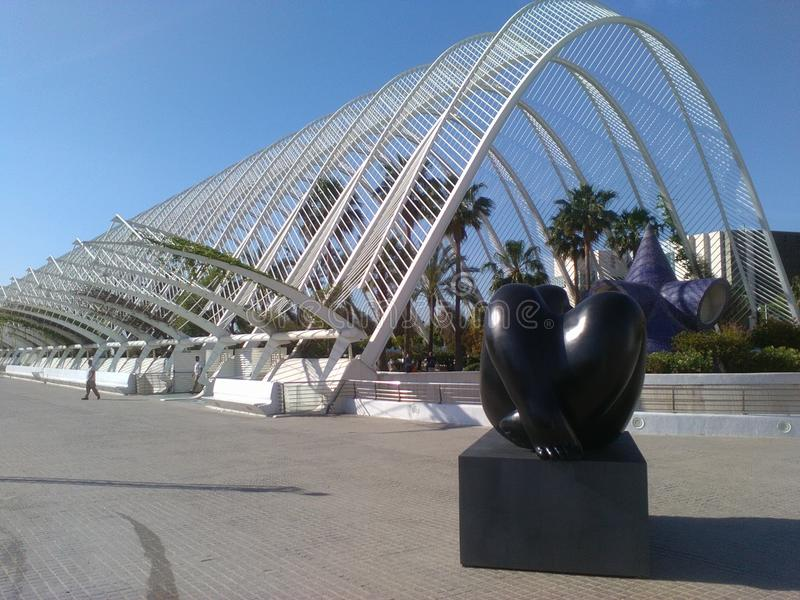 Città delle arti e delle scienze Valencia Spain fotografia stock