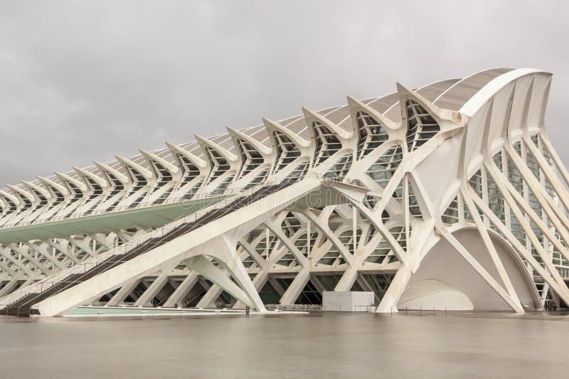 Città delle arti e delle scienze valencia La Spagna, Europa immagini stock libere da diritti