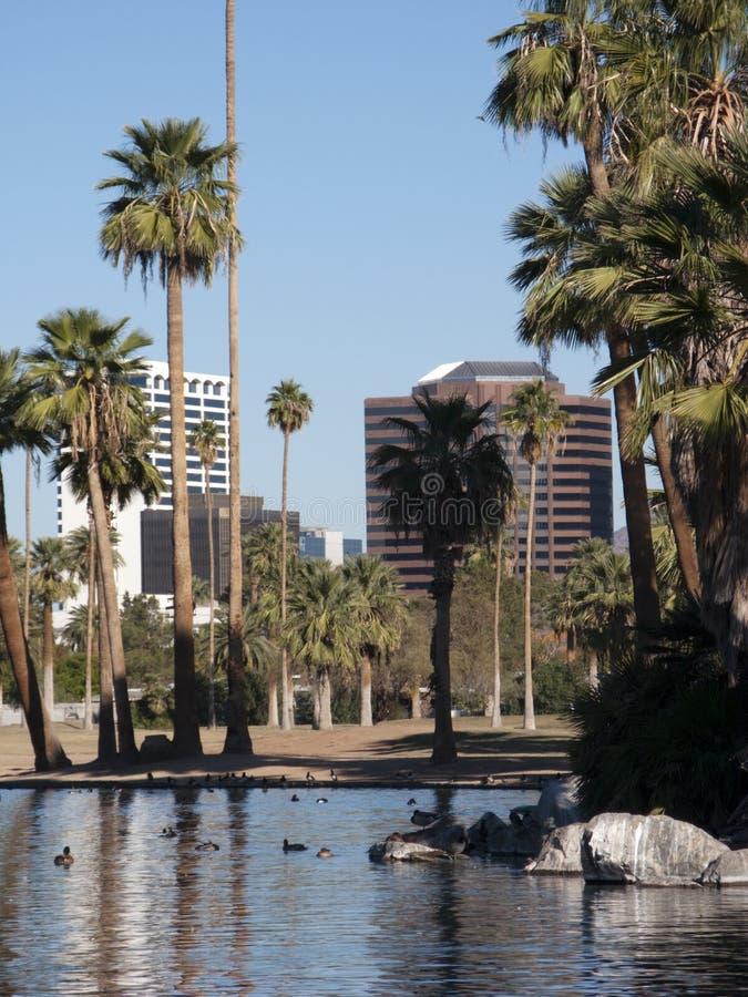 Città delle costruzioni del centro di Phoenix immagine stock libera da diritti
