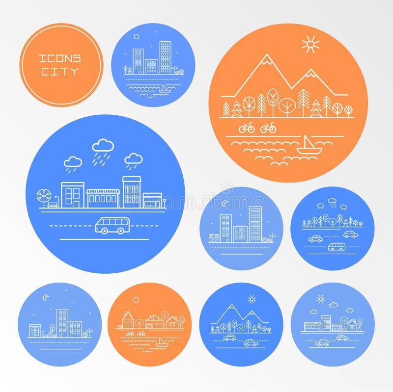 Città delle icone immagini stock