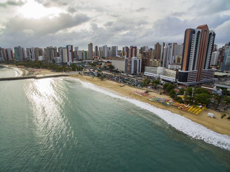 Città delle spiagge nel mondo Città di Fortaleza, stato del Ceara Brasile Sudamerica Tema di corsa fotografia stock libera da diritti