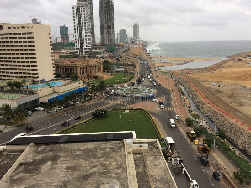 Città dello Sri Lanka di Colombo, capitale dello Sri Lanka fotografia stock libera da diritti