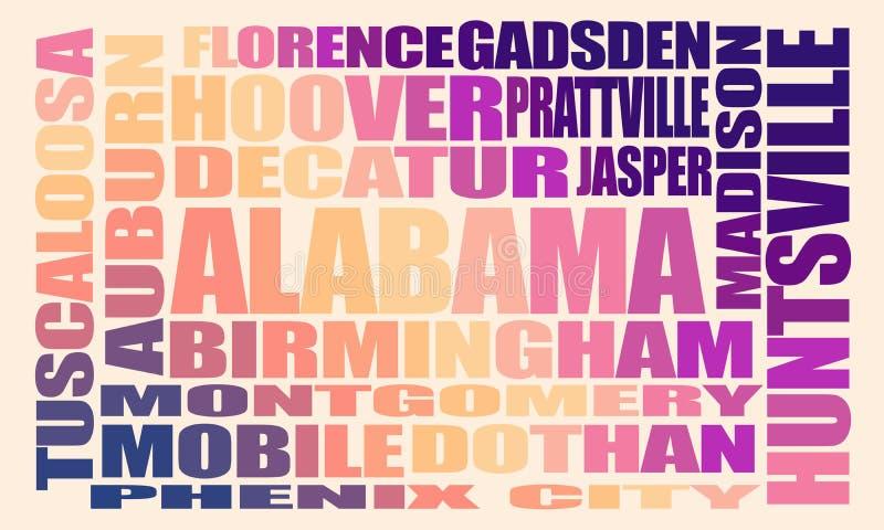 Città dello stato dell'Alabama illustrazione vettoriale