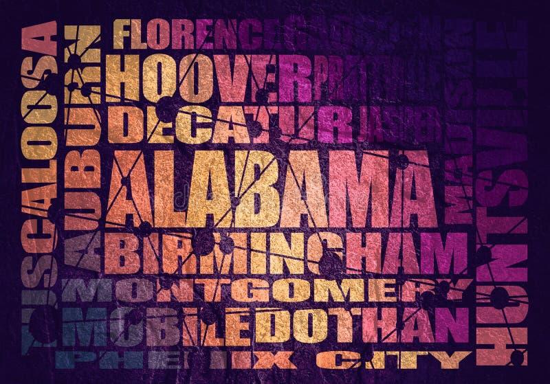 Città dello stato dell'Alabama illustrazione di stock