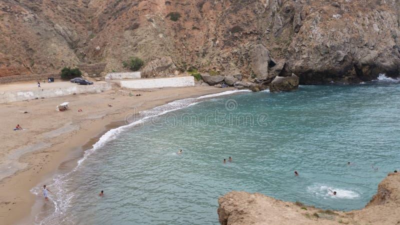 Città di Alhoceima, Mediterraneo e montagne, Marocco fotografia stock libera da diritti