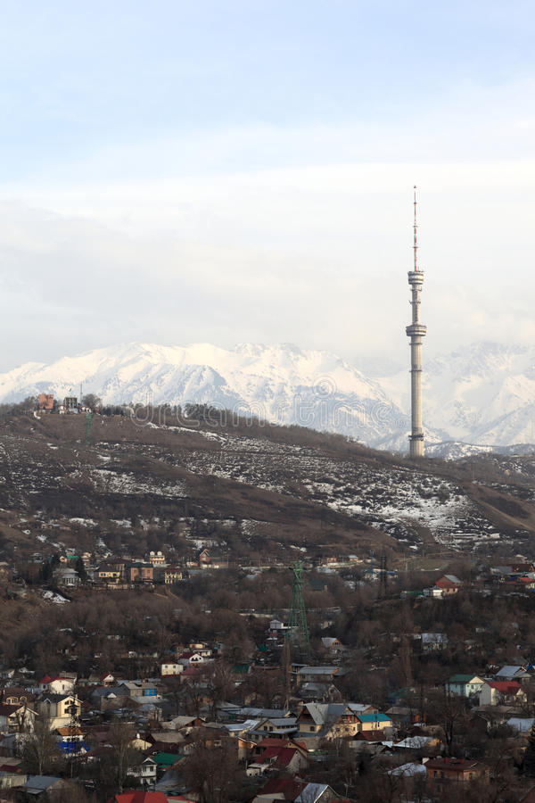 Città di Almaty in primavera fotografia stock libera da diritti