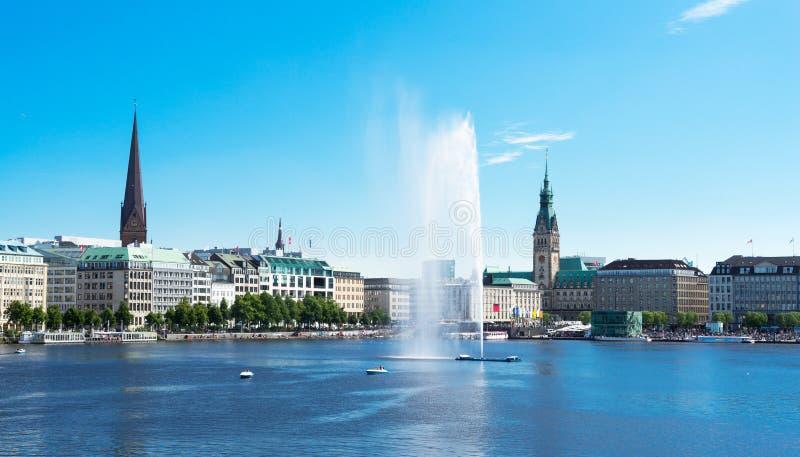 Città di Amburgo, Germania fotografie stock libere da diritti