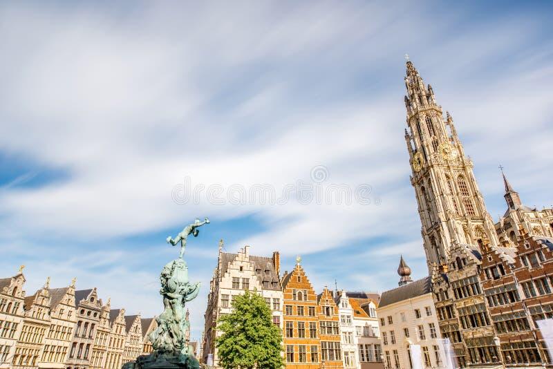 Città di Antwerpen nel Belgio fotografie stock
