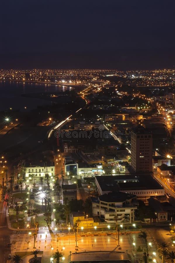 Città di Arica, Cile fotografia stock libera da diritti