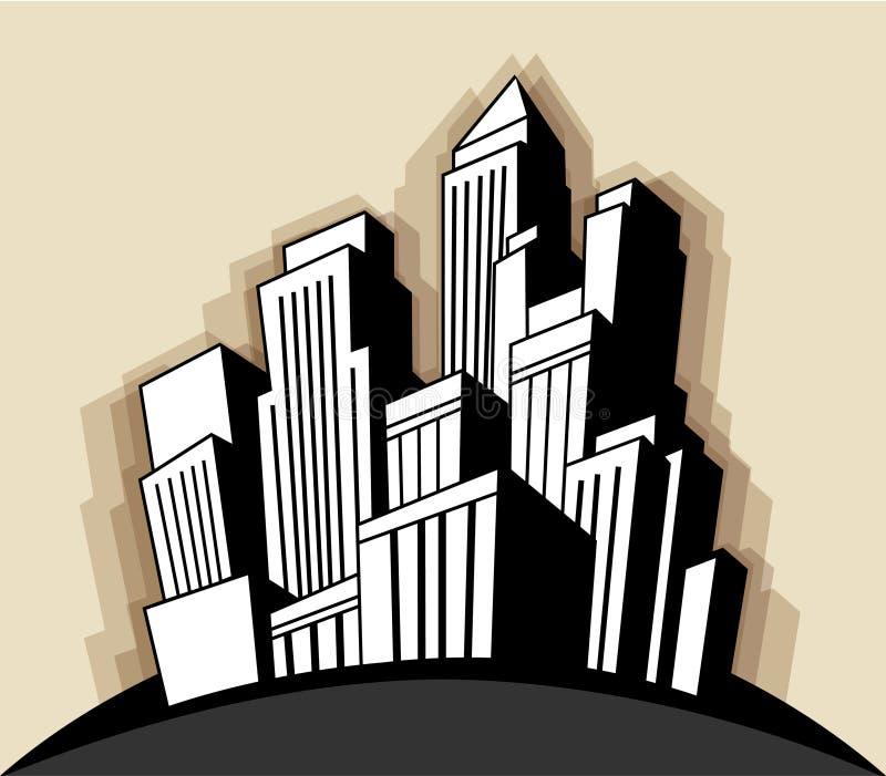 Città di art deco royalty illustrazione gratis