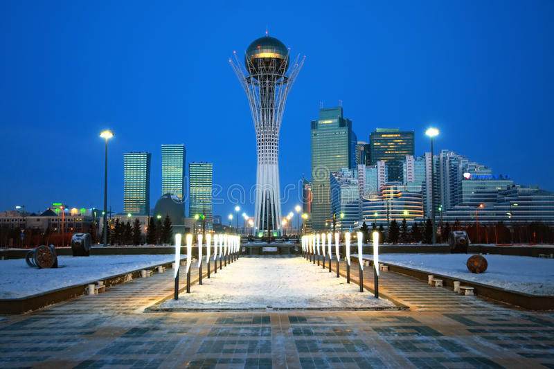 Città di Astana - il capitale di Kazakhstan fotografie stock libere da diritti