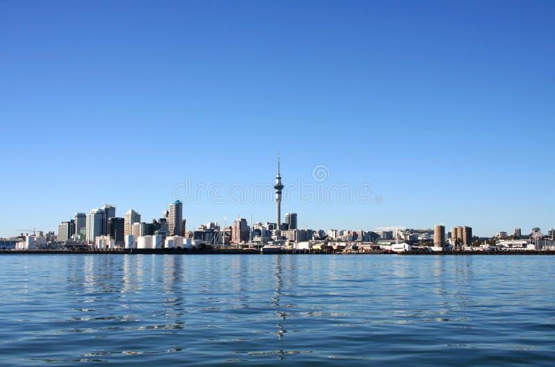 Città di Auckland, Nuova Zelanda di giorno fotografia stock libera da diritti