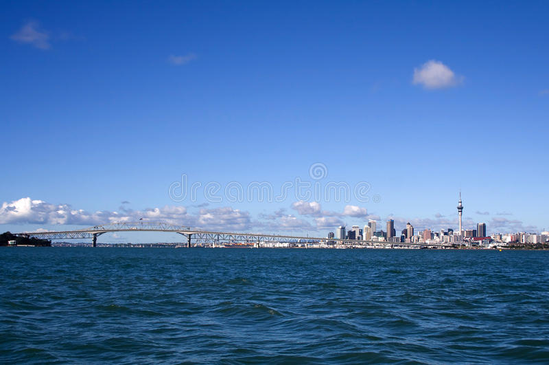 Città di Auckland, Nuova Zelanda di giorno 2 fotografie stock libere da diritti