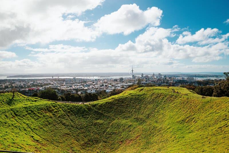 Città di Auckland, Nuova Zelanda Mt Eden Park immagini stock libere da diritti