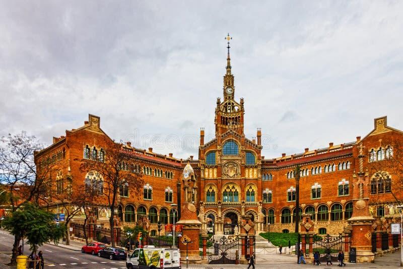 Città di Barcellona - Spagna Sant Pau Hospital, Catalogna immagini stock libere da diritti