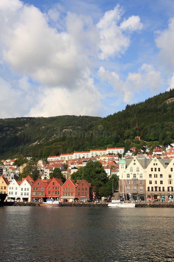 Città di Bergen in Norvegia fotografia stock libera da diritti