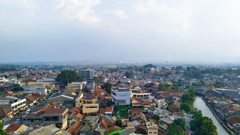 Città di Bogor in Indonesia fotografia stock libera da diritti