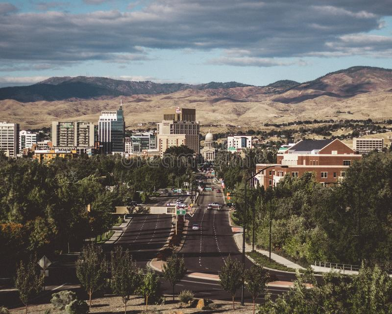Città di Boise immagine stock