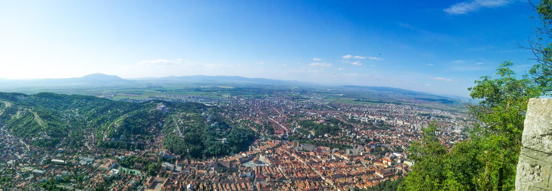 Città di Brasov fotografie stock libere da diritti