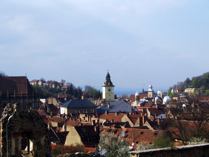 Città di Brasov fotografie stock