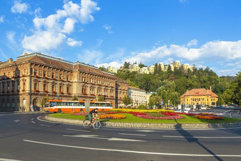 Città di Brasov, Romania fotografia stock
