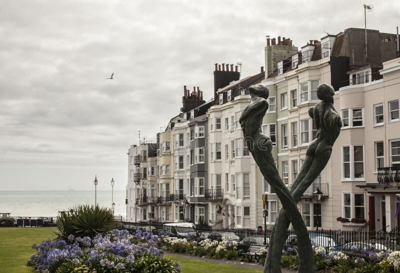 Città di Brighton - case urbane fotografie stock