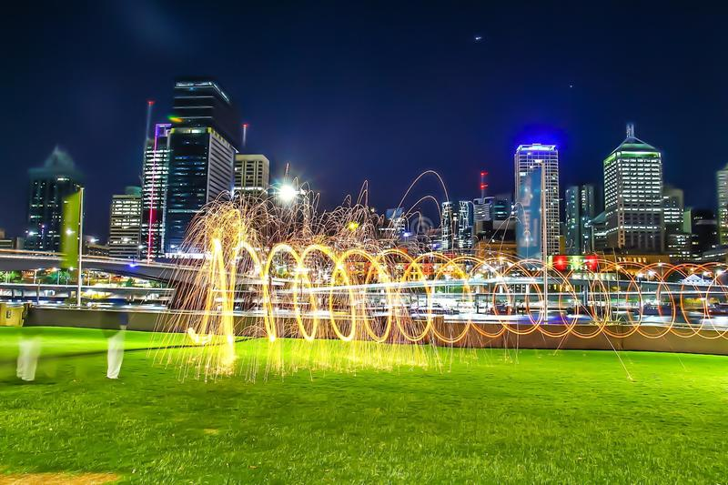 Città di Brisbane fotografia stock libera da diritti