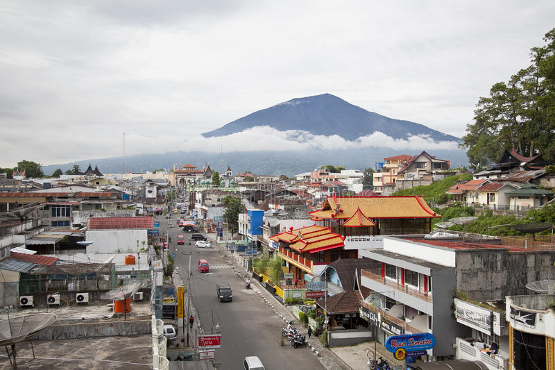 Città di Bukittinggi in Sumatra ad ovest immagine stock libera da diritti