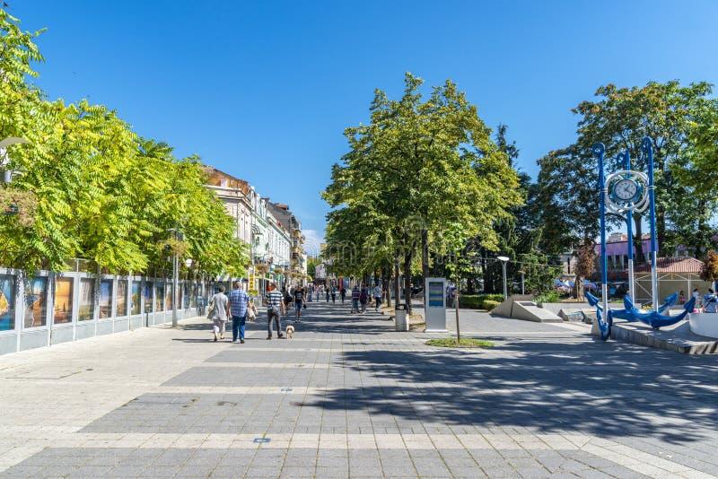 Città di Burgas in Bulgaria fotografie stock