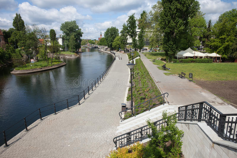 Download Città Di Bydgoszcz In Polonia Immagine Stock - Immagine di riverside, poland: 55361789
