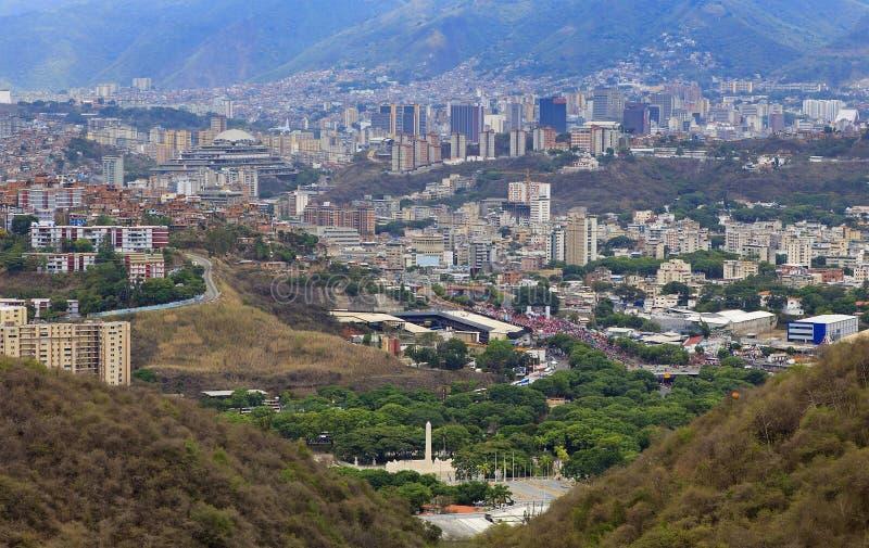 Città di Caracas Capitale del Venezuela fotografie stock libere da diritti