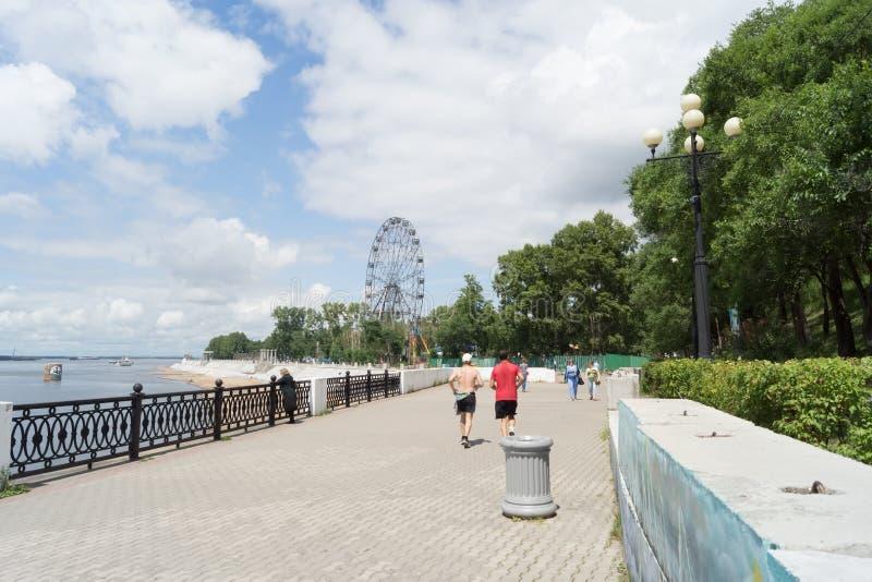 Città di Chabarovsk immagini stock