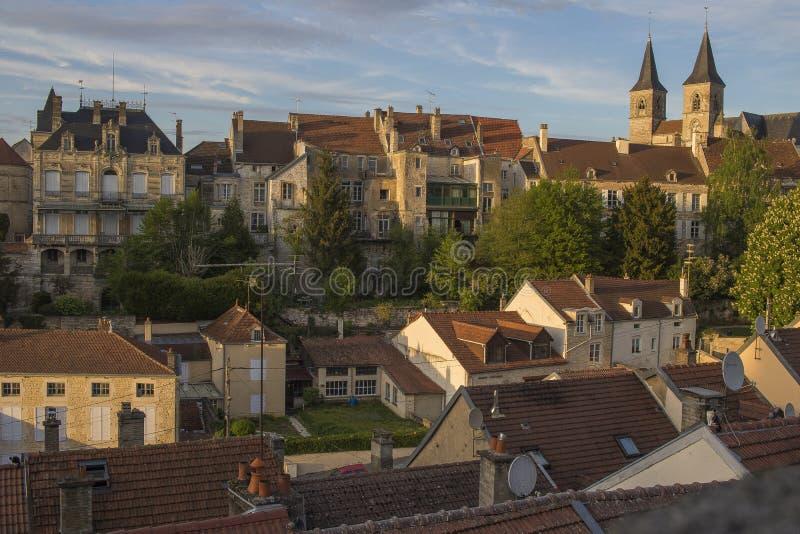 Città di Chaumont, Francia fotografia stock